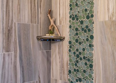 Bathroom-Shower-with-Full-Custom-12x24-Tile-Walls-and-Accent-Bubble-Tile-Strips-with-Accent-Shelf