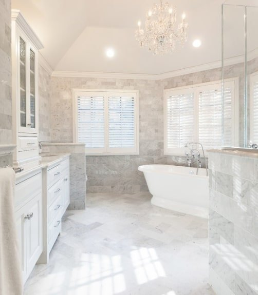 marble luxury master bathroom